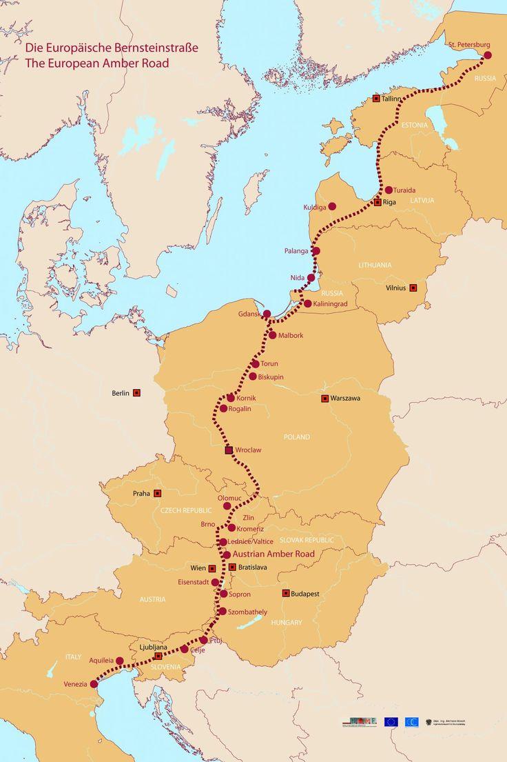THE EUROPEAN AMBER WAY | LA VIA DELL'AMBRA EUROPEA | DIE EUROPÄISCHE BERNSTEINSTRASSE |