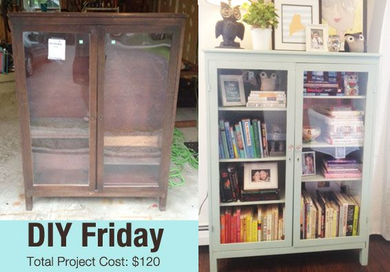 DIY Friday – Turning my Goodwill Find Into a Modern Cottage Cabinet |