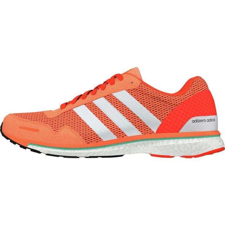 Adidas Adizero Adios Boost 3 Running Shoe Easy Orange/White/Energy 11.0