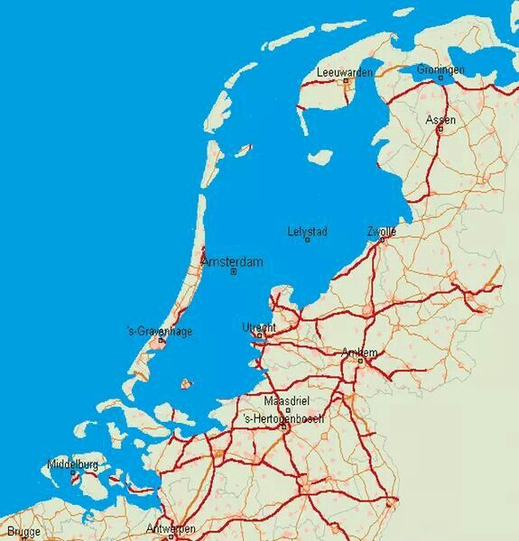 This is what The Netherlands would look like without dikes and flood control!!!!
