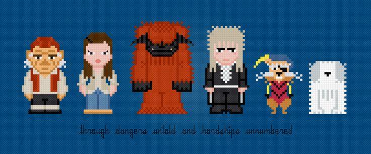 Personajes Laberinto Película PDF digital por AmazingCrossStitch