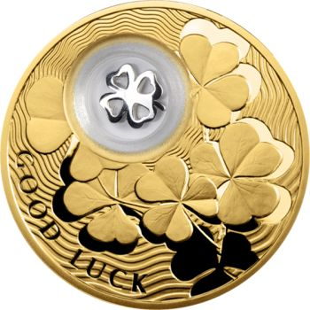Niue 2013 2$ Four-Leaf Clover Lucky Coins III Proof Silver Coin - Lucky Coins - Love and Luck - Themes TopWorldCoins