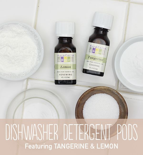 Change your dishwashing habits forever with this recipe for homemade and dishwasher pods. #natural #diy
