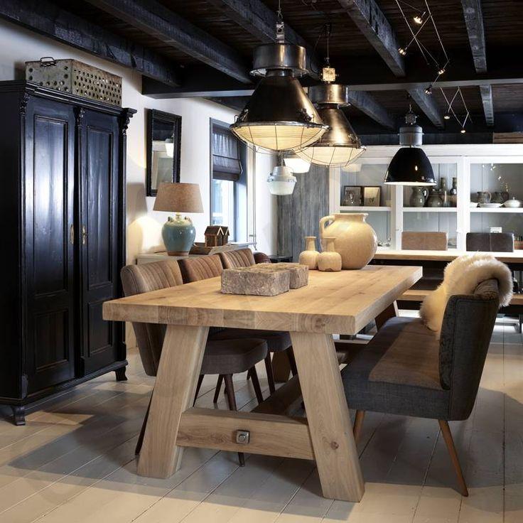 Robuuste tafels - Eiken tafel Milaan