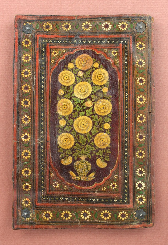 A Mughal Painted Bookcover, Northern India, 18th century