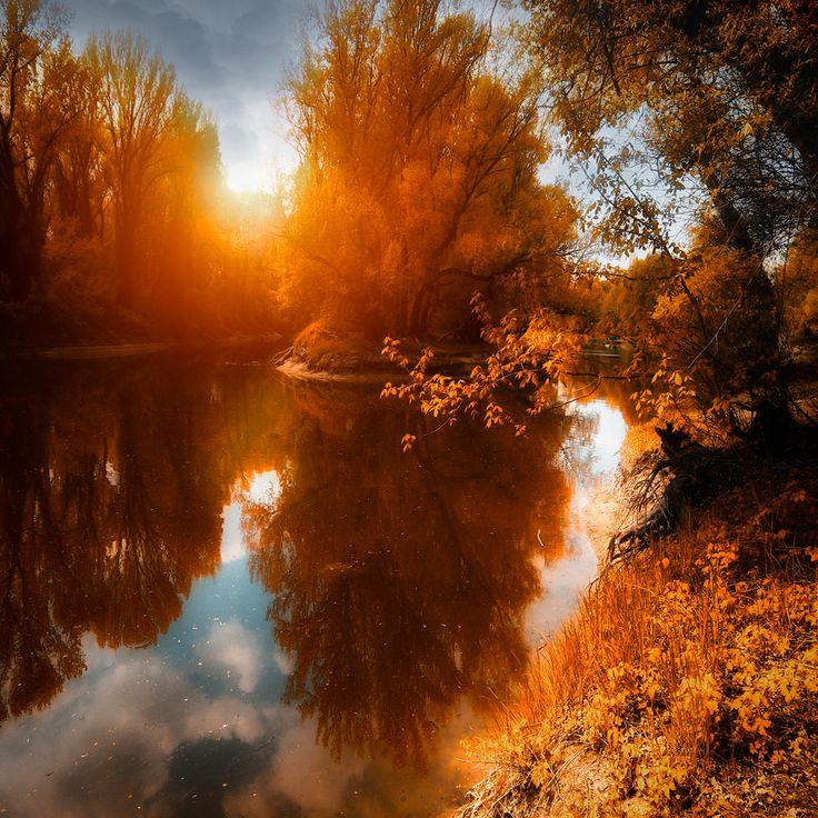 Landscape: Photos, Reflection, Nature, Seasons, Autumn, Fall, Beautiful, Magical Season, Ildiko Down