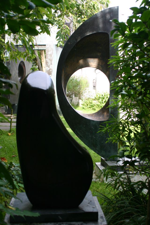 In Hepworth's sculpture garden