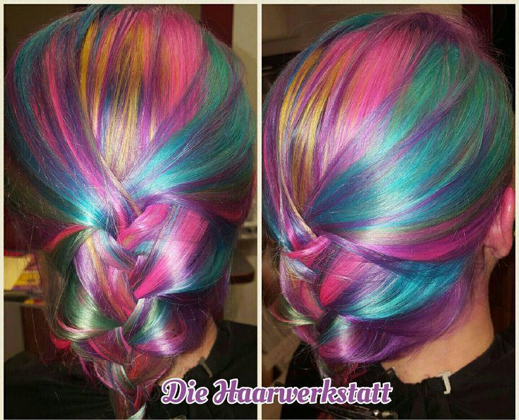 Frisuren  Regenbogen  Haarfarbe