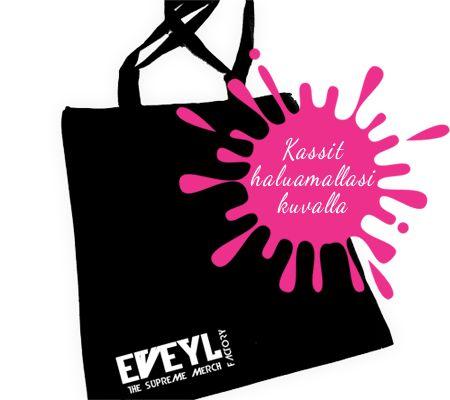 Eveyl tarjoaa laadukkaita ja kohtuuhintaisia painopalvelut Tampere, Suomessa. Voit saada painopalvelut kangaskassit, T-paidat, hupparit ja keikka juliste yrityksen logolla parhaaseen hintaan. http://www.eveyl.com/tuote/kangaskassi-painatus  #kangaskassi