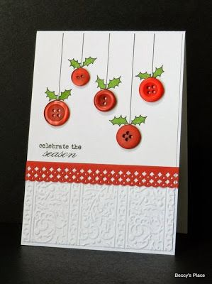 Christmas Card with red buttons
