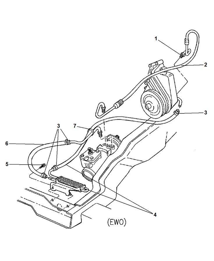 Image result for 2002 dodge ram 2500 power steering hose