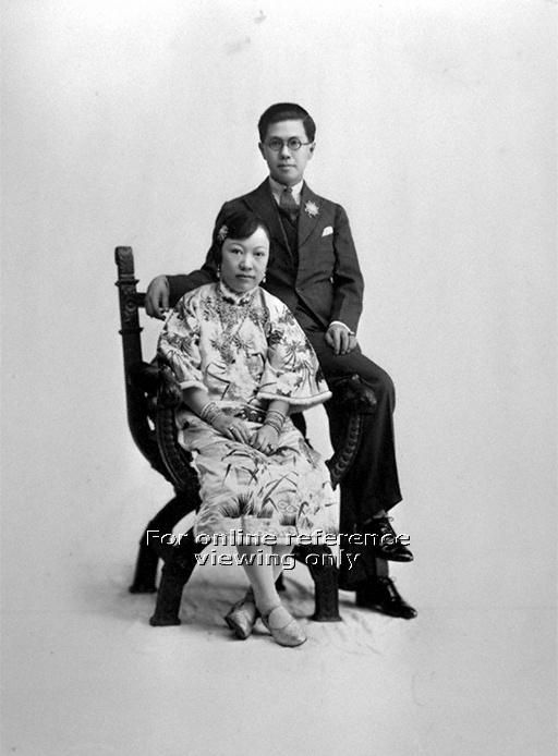 Peranakan couple in Penang, Malaysia - 1940s to 1950s