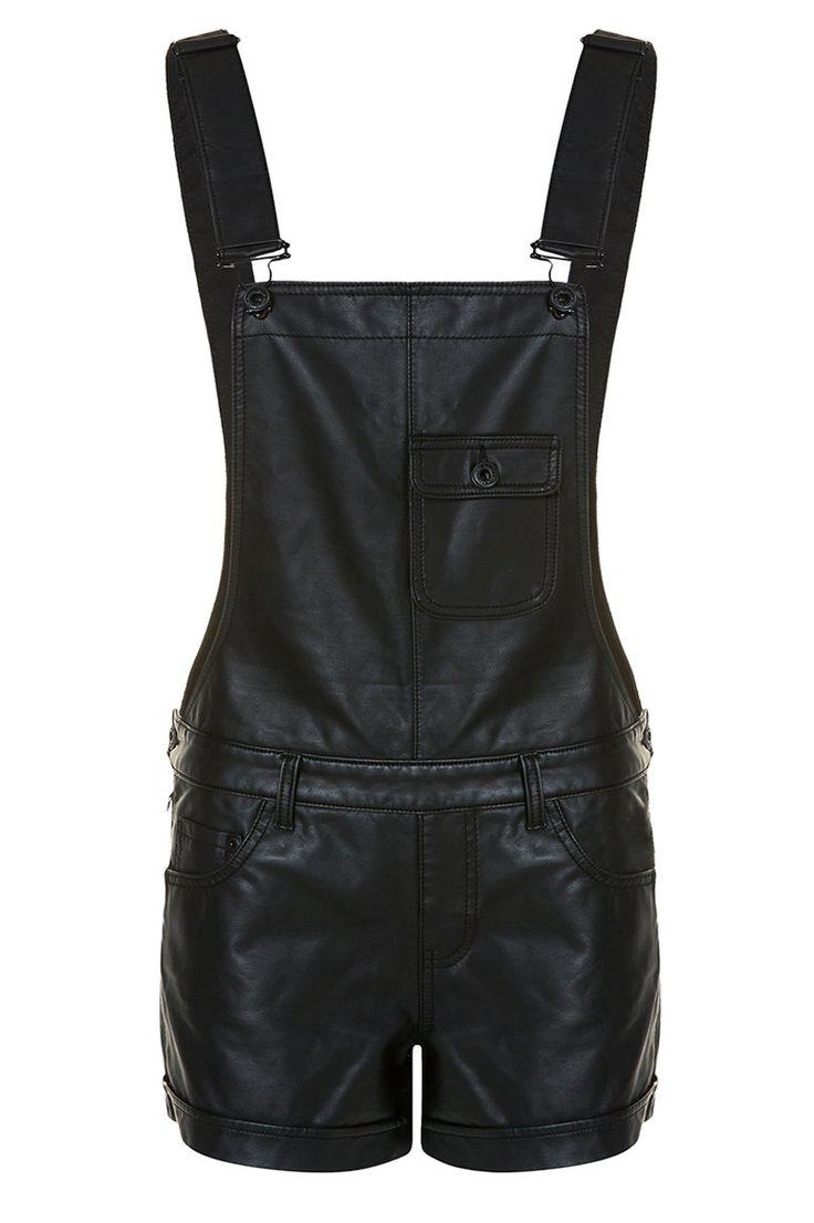 trendy leather like short dungarees tallyweijl. Black Bedroom Furniture Sets. Home Design Ideas