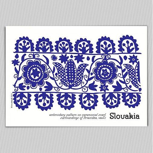 Slovak folk ornament
