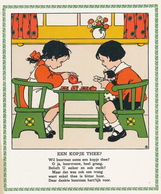 Kopje thee? - Dit boekje was een van mijn favorieten toen ik klein was. Rie Cramer
