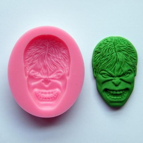 Hulk silicone mould fondant, size 5.5x3.5cm