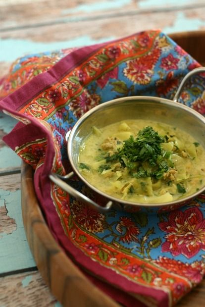 Punjabi Style Chicken Soup with Cabbage (Paleo)