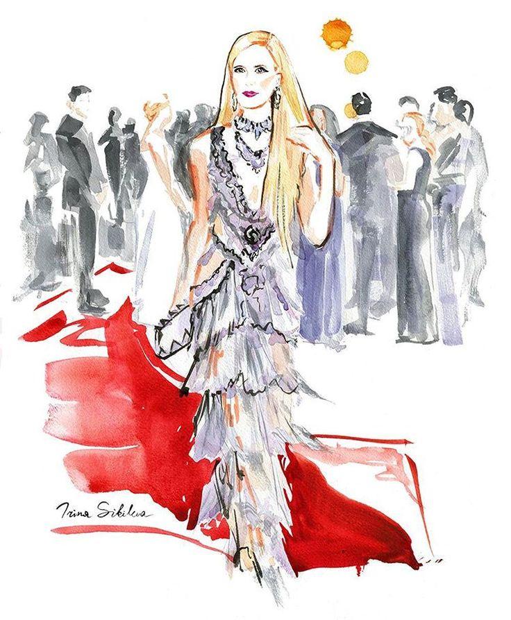 Poppy Delevingne, fashion illustration by Irina Sibileva #poppydelevingne #MetGala #MetGala2016 #Vogue #fashionillustration #fashionillustrator #IrinaSibileva #IrinaSibilevaDraws