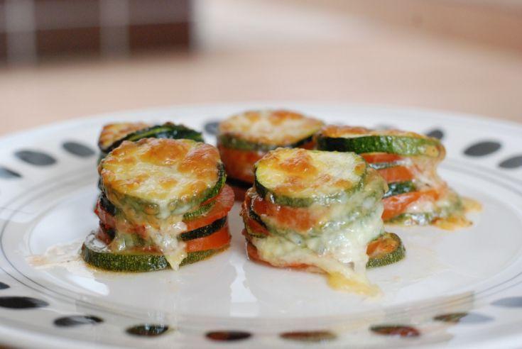Fotorecept: Cuketové vežičky s mozzarellou