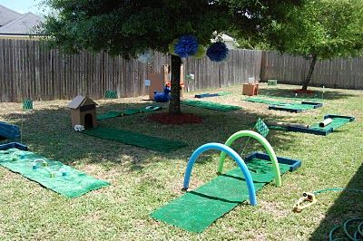 I hope one of my girls likes golf, just so I can throw a party like this.