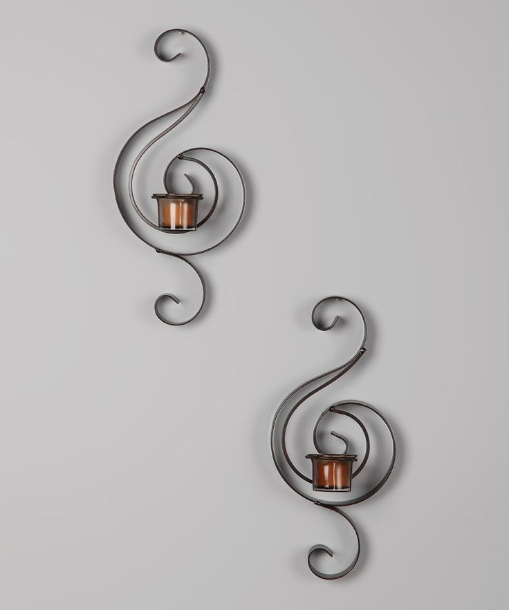 Amber Swirl Tea Light Wall Sconce - Set of Two & 19 best Sconce ideas images on Pinterest | Tea lights Wall ... azcodes.com
