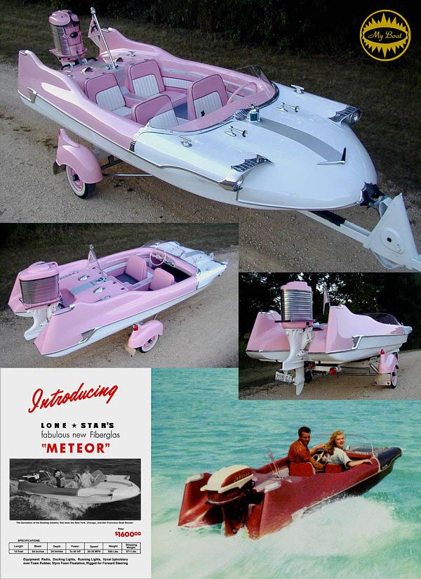"""1950S Boats With Fins 