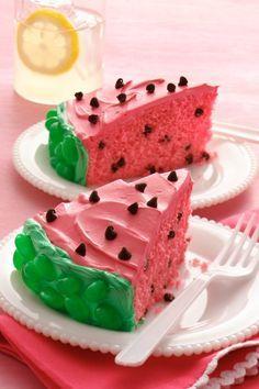 Watermelon Cake - wenn das mal keine tolle Inspiration für die nächste Torte ist! #gofeminin #cheana #cheana4gofeminin