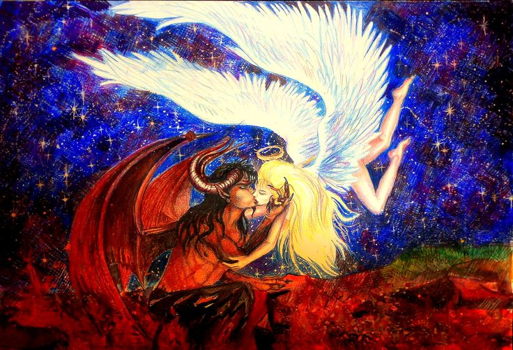 Angel_and_demon_kissing_by