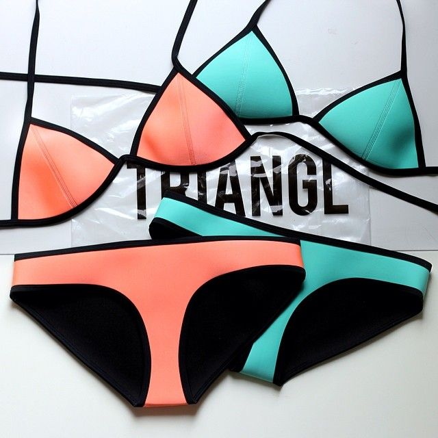 triangl swimwear: -Neoprene-I bought the one on the right!!
