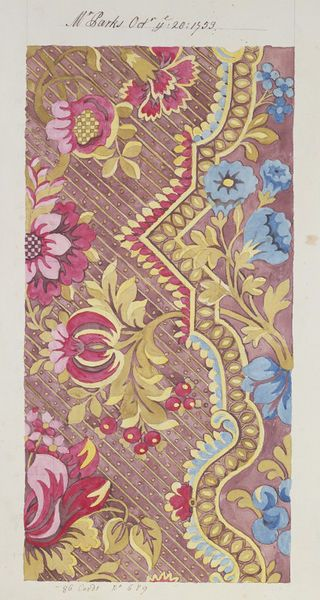 Design for Spitalfields silk, 1753, Anna Maria Garthwaite.