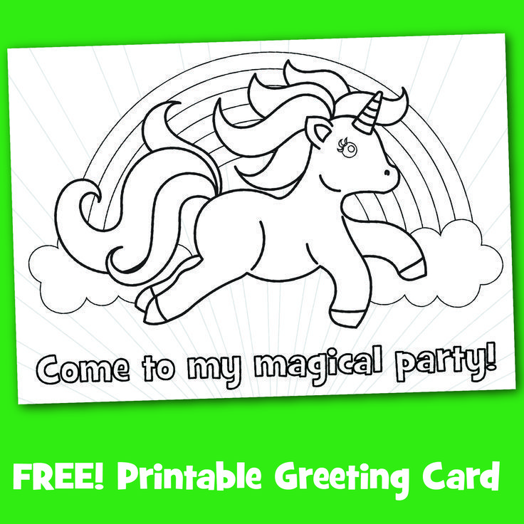 Free Printable Black White Magical Party Invitations To Color