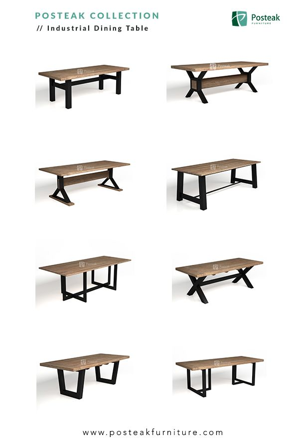 Indonesia Furniture Industrial Dining Table Made Of Solid Wood
