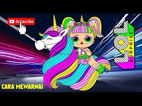 Cara Mewarnai Gambar Lol Naik Kuda Poni Youtube Kartun Kuda Poni Lol