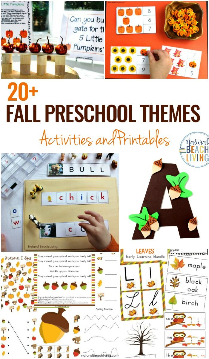 15 october preschool themes with lesson plans and activities in