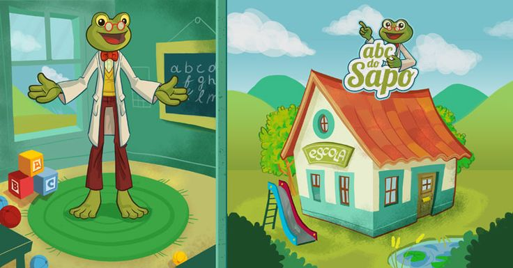 Character Design, background art and animation by Luis Cavaco for ABC do SAPO, a app about learning the alphabet