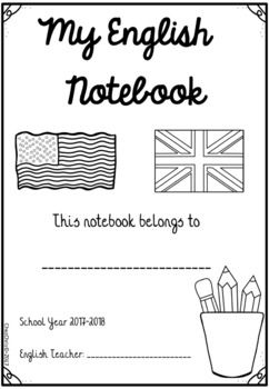 Copybook Notebook Front Page 2017 2018 Freebie Free