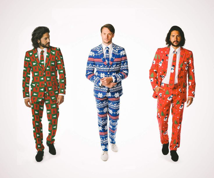 When an ugly sweater just isn't formal enough for your swanky holiday party, don your finest tacky Christmas suit and let the festivities commence.