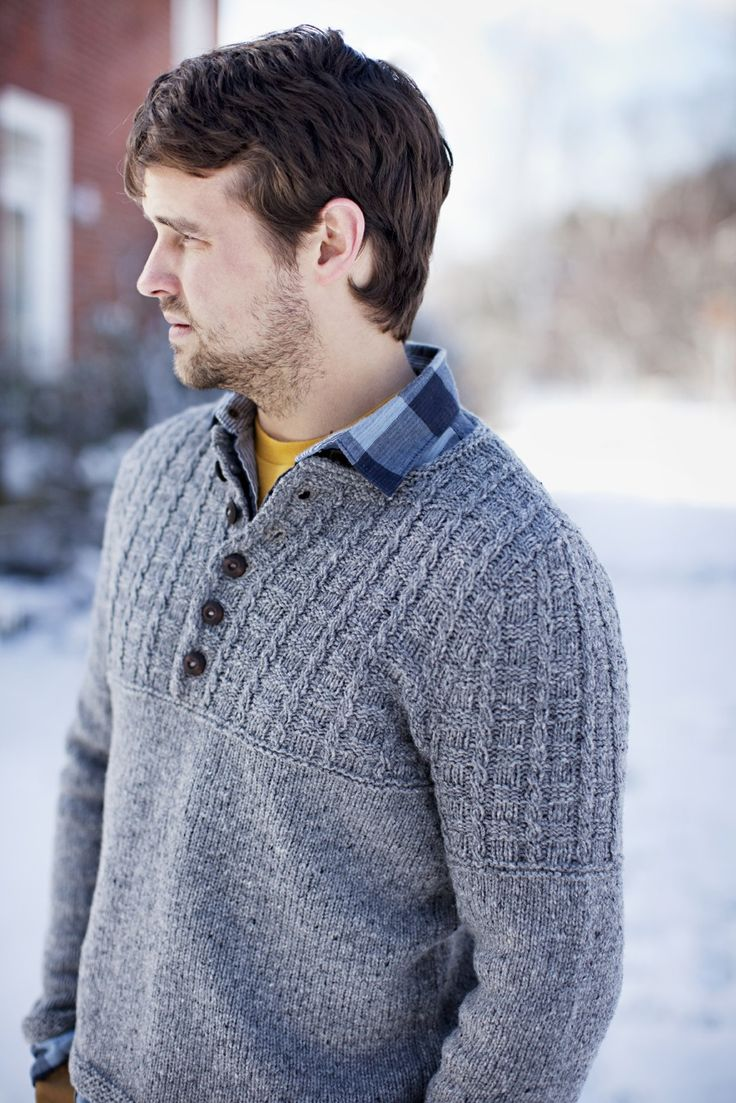 GUSTON  UNISEX GARMENT WITH TEXTURED YOKE    by Ann Budd