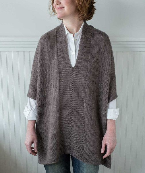 Modern Wrapper Project - Tunic Version in Kid Classic | Churchmouse Yarns & Teas