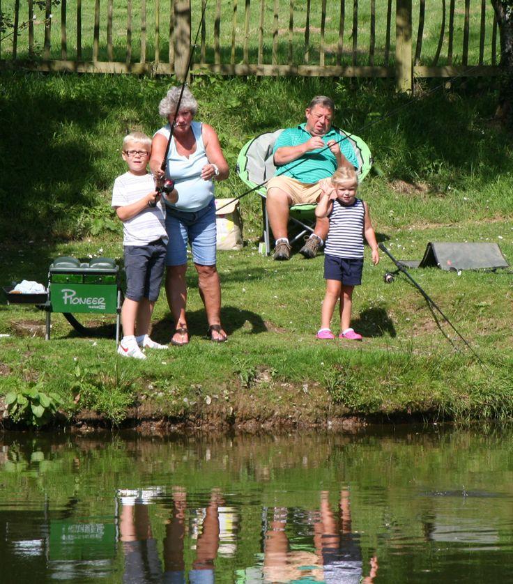 Family fishing at Meadow Lakes