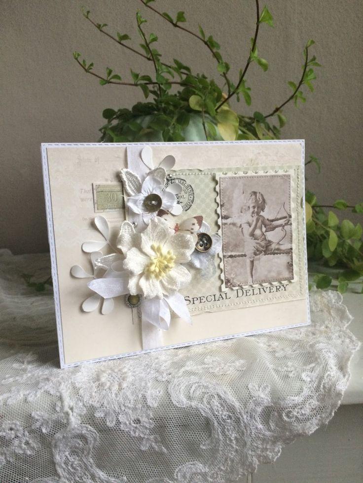 Blomsterbox: Kort med en engel