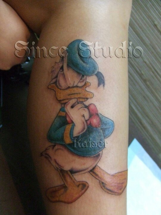 Donald Duck tattoo.....  tattoo by Kaiser@Since Studio Hong Kong