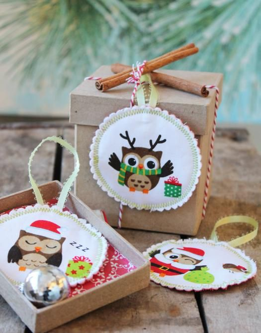Make a list and check it twice for must-have holiday ornaments you can finish in a snap using festive novelty prints.