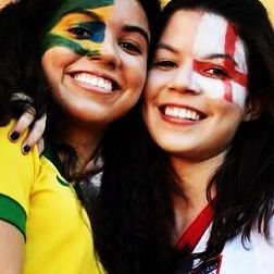 World Cup 2014 - Faces of fans! Girls and smiles!