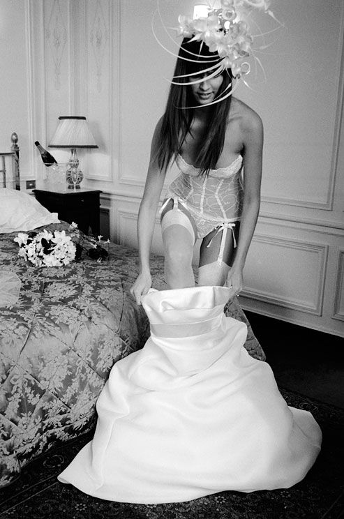 The undergarments you wear under your dress are there solely to support you, smooth you and, keep it all in place. Save the naughty numbers for the wedding night and honeymoon—your groom will thank you later! A good, practical, article about what you should be wearing under your wedding gown from Colin Cowie Weddings.