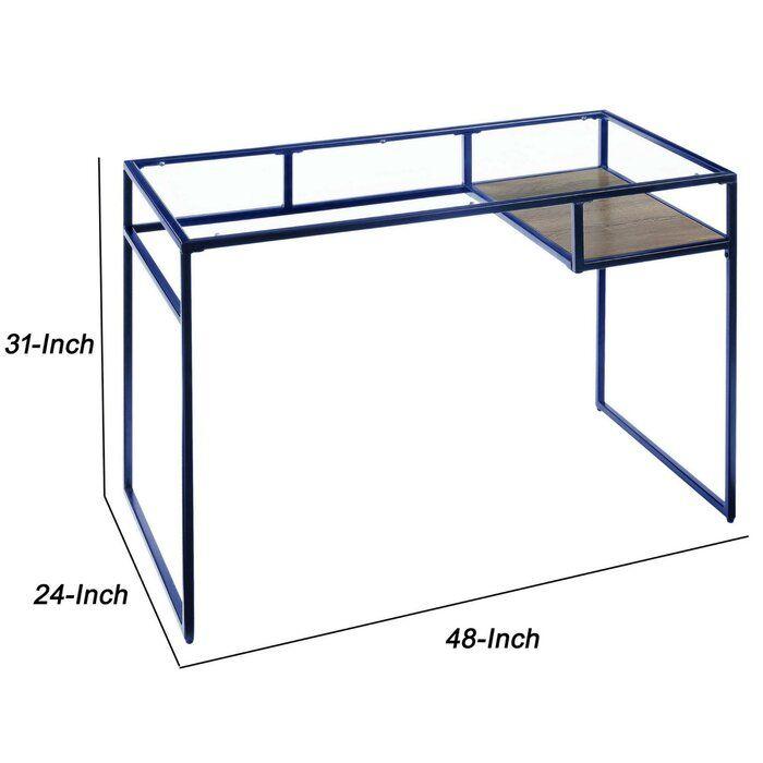 Nelligan Glass Desk Glass Desk Glass Diy Desk