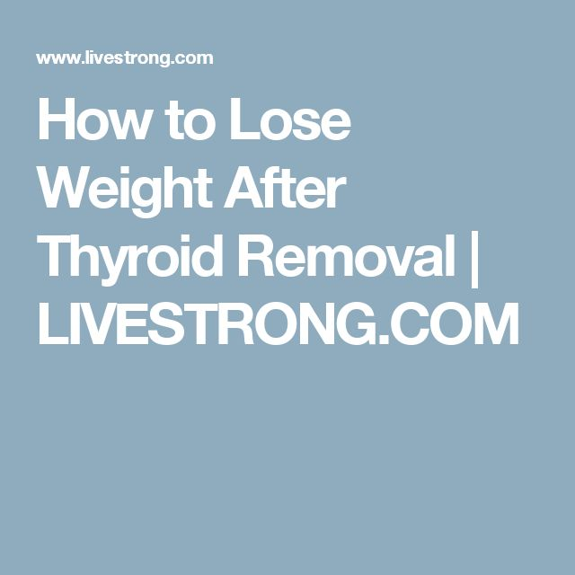 weight lose diet after thyroid cancer