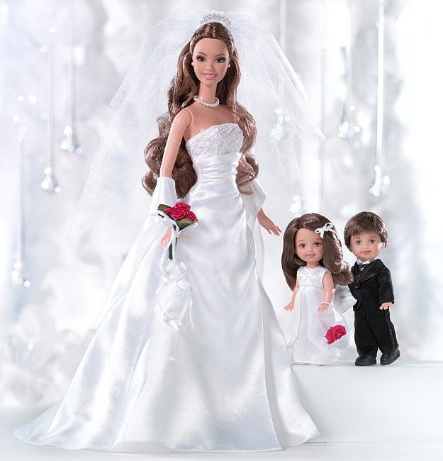 David's Bridal Eternal™ Barbie® Doll with Perfect Pair™ Tommy™ Doll and Kelly® Doll