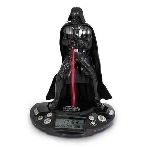 This Darth Vader Alarm Clock is one of several Star Wars merchandise items. Lucasfilms has merchandies towels, binders, dining plates, clothing, bedsheets and all sorts of domestic products. Star Wars merchandise is another way fans bring the series into their lives beyond watching the films. Many of these products are marketed for children but most are not age-specific.