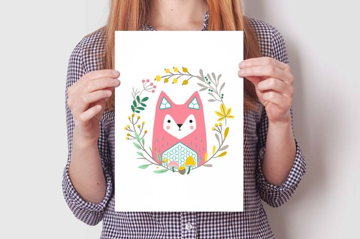 debaba KRAFT FOX print set #cute #fox #illustration #design #wallart #kidsroom #decoration #nursery #print #debabakraft #debaba #kraft